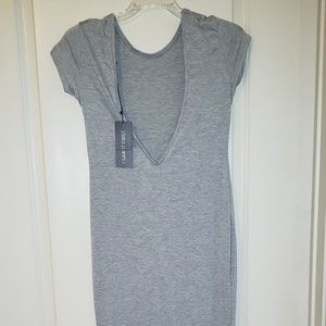 Dresses & Skirts - Deep V plunge cotton and spandex bodycon dress
